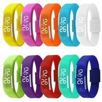 LED Waterproof Candy Color Silicone Rubber Digital Unisex Watches s