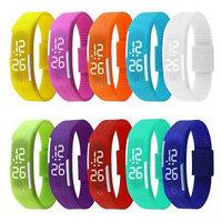 LED Jelly Slim Digital Trendy Watch n