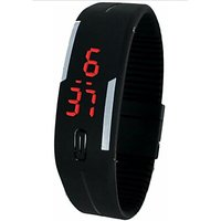 Led watch black by g