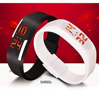 LED electronic Braclet watch by qo