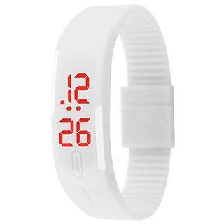 Danzen Digital White LED Sports Unisex Watch-495 by jok