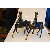 MC Brass Metal Horse Set Of 2