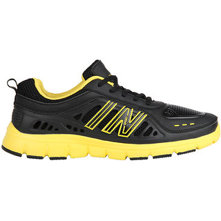 Globalite Men's In Sports Black/Yellow Running Sport Shoes GSC0231