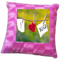 I Love You Heart Printed Cushion Cover By Shopmillions