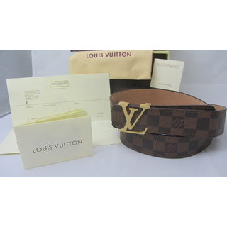 Louis Vuitton Mens Leather Belt - LV Mens Leather Belt @ Heavy Discount
