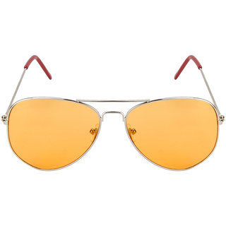 Monsoon Special 3025 Silver Orange Aviator Sunglasses