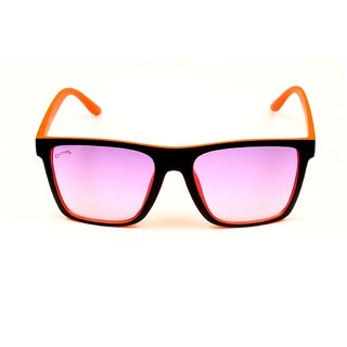 Glitters Wayfarer Black-Orange Sunglasses