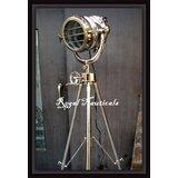 Nautical Theater Spotlight Floor Lamp Chrome X Large Searchlight Restoration