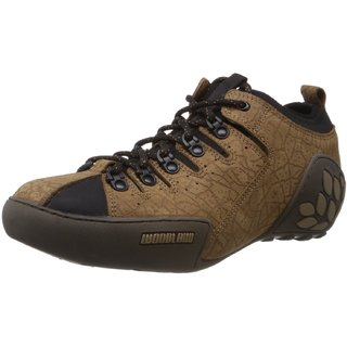 Woodland Instyle Brown Leather Men's Sneakers (Size-8 Uk)