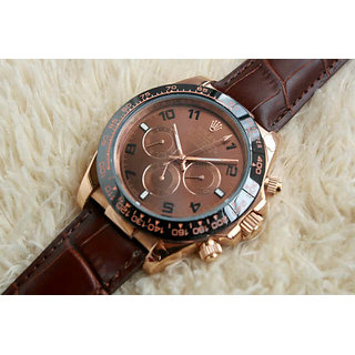 Rolex Daytona Brown Leather Edition Swiss Men`s Watch