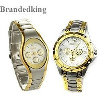 ROSARA COMBO WATCHES GOLDEN  Couple Watches  By Sab