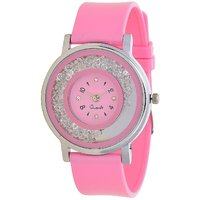 Glory  Pink new Diamond  Designer VIP look Collection Analog Watch - For Women by 7Star