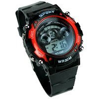 Sport Black And Red Digital Kids Watch aa
