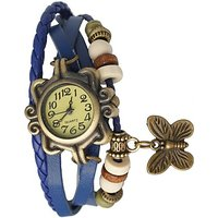Butterfly bracelet designer blue watch for women and girlz