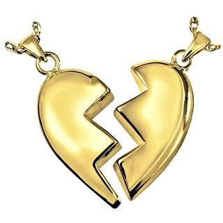 Cara Share The Heart Half & Half Couple Pendants Made In Swarovski Stones & Sterling