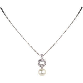Cara Luxury Pearl Crystal Studded Pendant Made In Sterling