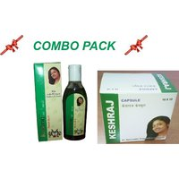 KESHRAJ HAIR OIL & CAPSULE (COMBO PACK)- Remedy For Hair Falling