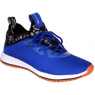 Shoebook Men Blue Lace-up Sneakers