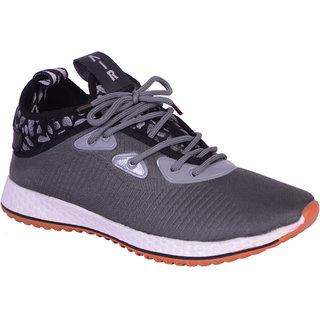 Shoebook Men Gray Lace-up Sneakers