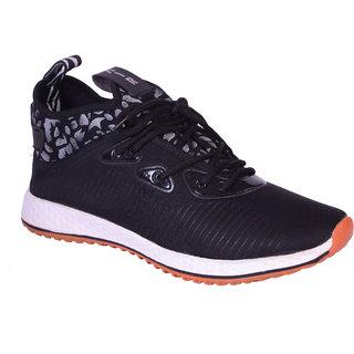 Shoebook Men Black Lace-up Sneakers