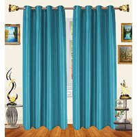 Decor Bazaar Set Of 2 Royal Crushed Polyester Wheat Eyelet Curtain-7 Feet
