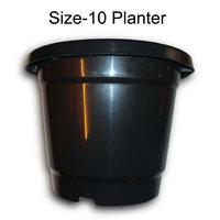 GARDENING PLANTER FLOWER POT HOME BALCONY GARDEN CONTAINER BLACK 10 INCH 10 QTY