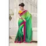 GEORGETTE LEHENGA STYAL SAREE IN DOUBLE SHADES  JIY-1310