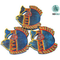Blue Fish Shaped  Coasters (Set Of 3)
