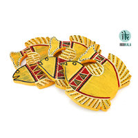 Yellow Fish Shaped  Coasters (Set Of 3)