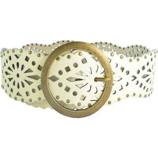 Antiformal Fashion Women Love Rebel'S Waist Belt In White Colour