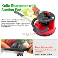 Knife Sharpner With Suction Pad Grinder Safety Portable Home Kitchen Tool