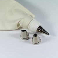 Set Of Piping/Icing Bag With 3 Icing Nozzles For Decorating Cake (Washable Bag)