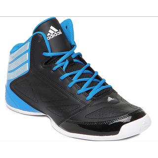 Adidas Men Black & Blue 3 Series Sports Shoes