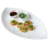 Symphony - Round Platter And Dipping Bowl - Ceramic
