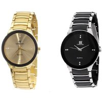 IIK Collection Casual Watch For Mens combo of 2 BY 7STAR