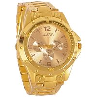 Golden Stylish Rosra Watch For Man
