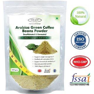 Sinew Nutrition Arabica Green Coffee Beans Powder 800gm, Decaffeinated  Unroasted Arabica Coffee for Weight Loss