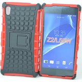 New Anti Shock Flip Stand Armor Rubber Bumper Case For Sony Xperia Z2 BK&RD