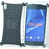 New Anti Shock Flip Stand Armor Rubber Bumper Case For Sony Xperia Z2 BK&WH