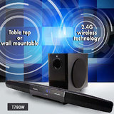 F&D T780W TV Sound Bar With Wireless Subwoofer