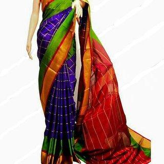 uppada blue handloom sarees
