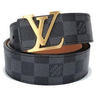 Louis Vuitton Belts Damier Black Gold Buckle/Sliver Buckle  LV Belt Free Gift