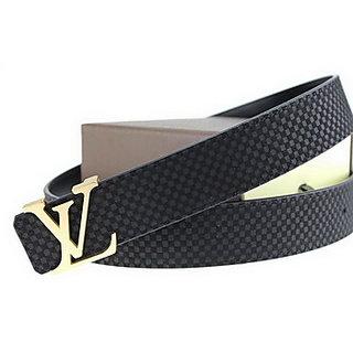 Louis Vuitton Belt Black Gold Free Gift