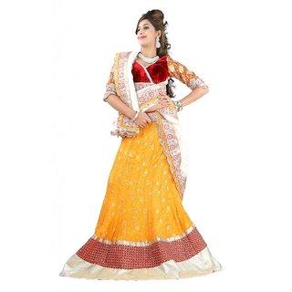 Triveni Sizzling Massive Bordered Wedding Wear Viscose Lehenga Choli 10021