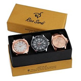Rico Sordi set of 3 watch combo RSW-38-F21