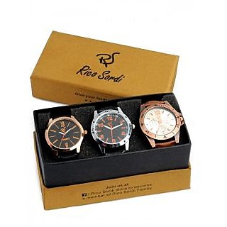 Rico Sordi set of 3 watch combo RSW-39-F2