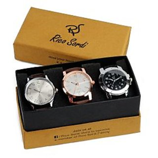Rico Sordi set of 3 watch combo RSW-40-F2