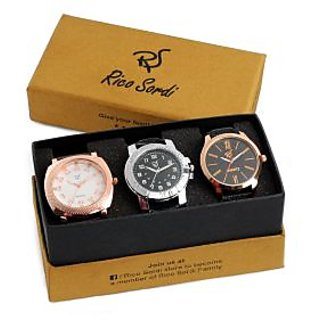 Rico Sordi set of 3 watch combo RSW-41-F2