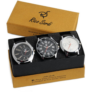 Rico Sordi set of 3 watch combo RSW-43-F2