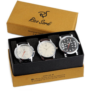Rico Sordi set of 3 watch combo RSW-44-F2